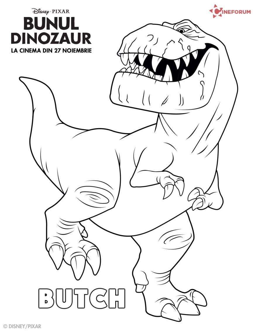 Planse De Colorat Cu Personaje Din Bunul Dinozaur