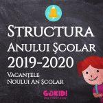 Structura Anului scolar 2019-2020 Vacantele Noului An scolar gokid