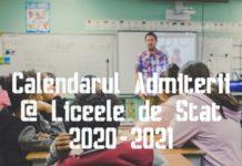 Calendarul Admiterii la Liceele de Stat 2020-2021 GOKID