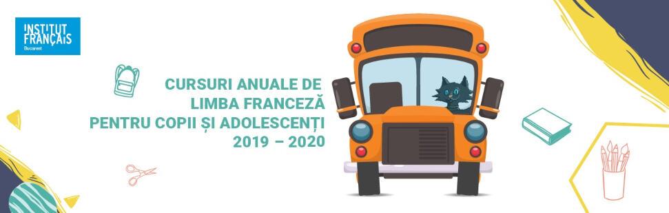 cursuri anuale limba franceza 2019-2020 institutul francez 5-17 ani